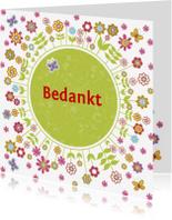 Communiekaarten - Bedankt communie bloemen