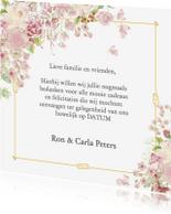 Trouwkaarten - Bedankt goud kader met rozen