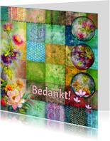 Bedankkaartjes - Bedankt mixed media design