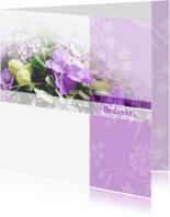 Rouwkaarten - Bedankt orchidee rouwkaart