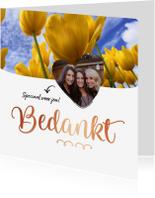 Bedankkaartjes - Bedankt - speciaal voor jou foto