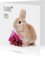 Bedankkaartjes - Bedankt - Thank you konijn