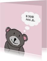 Zomaar kaarten - Berenwens in roze