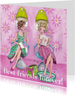 Best Friends Forever Kapper Illustratie
