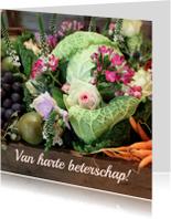 Beterschapskaarten - Beterschap fruit en bloemen