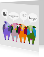 Beterschapskaarten - Beterschap kleurplaat koeien