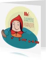 Beterschapskaarten - Beterschap kleurplaat roodkapje