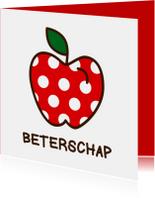 Beterschapskaarten - Beterschap met een appel