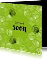 Beterschapskaarten - Beterschap palm bladeren abstract