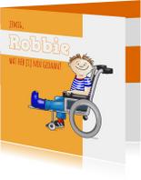 Beterschapskaarten - Beterschap rolstoel Robbie