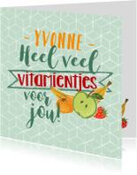 Beterschapskaarten - Beterschap vitamines fruit trendy