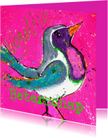 Beterschapskaarten - Beterschap vogeltje