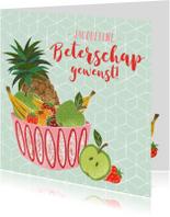 Beterschapskaarten - Beterschapskaart fruit abstracte stijl