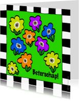 Beterschapskaarten - Beterschapskaart met bloemetjes