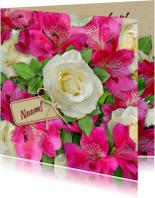 Beterschapskaarten - Beterschapskaart met bos mooie bloemen