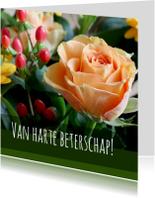Beterschapskaarten - Beterschapskaart - roosje