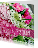 Beterschapskaarten - Beterschapskaart roze&wit
