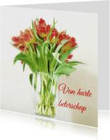 Beterschapskaarten - beterschapskaart vaas tulp - LB