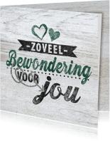 Sterkte kaarten - Bewondering hout knuffel sterkte