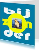 Dierenkaarten - BijZONder, Foto blauw - AW
