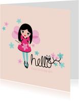 Verjaardagskaarten - Birthday girl fee prinses