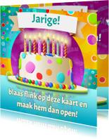 Verjaardagskaarten - BLAAS DE KAART UIT 1 t/m 10 jaar