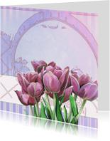 Bloemenkaarten - Blanco Kaart Met Tulpen