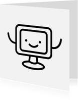 Geslaagd kaarten - Blije Computer