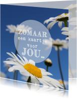 Zomaar kaarten - Bloemen kaart voor jou....