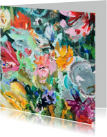 Bloemenkaarten - Bloemen kleurrijke kunst