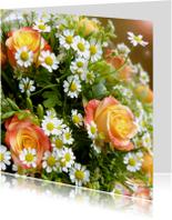 Bloemenkaarten - Bloemen Lief Rozenboeket
