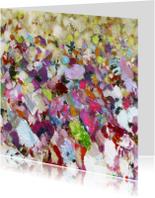 Kunstkaarten - Bloemen print kunst iets fraais