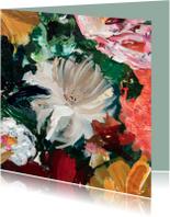 Bloemenkaarten - Bloemen schilderij kunst IF