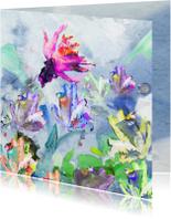 Bloemen schilderij print vk