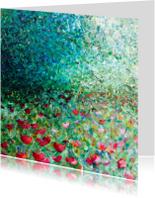 Kunstkaarten - bloemen schilderij Weelde