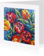 Bloemenkaarten - Bloemen Tulpen3 - AW