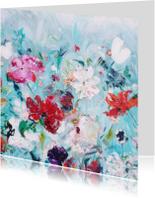 Bloemen veld vrolijk schilderij