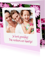 Bedankkaartjes - Bloemenbedankkaart Margriet - BK