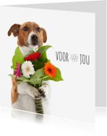 Bloemenkaarten - Bloemenkaart - Boris - Voor jou