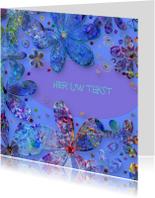 Bloemenkaarten - Bloemenkaart met Feestelijk geschilderde bloemen