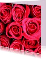 Bloemenkaarten - Bloemenkaart met felrode rozen