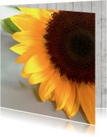Bloemenkaarten - Bloemenkaart met zonnebloem