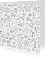 Kleurplaat kaarten - Bloemenprint  kleuren