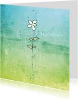 Zomaar kaarten - Bloemetje Hello You - JD