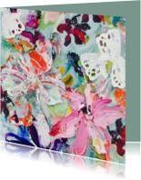 Kunstkaarten - Bloemschilderij print boeket