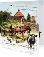 Zomaar kaarten - Boerderijkaart Lang Leve de Boerderij!
