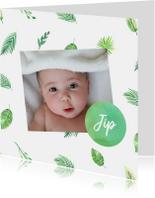 Geboortekaartjes - Botanisch geboortekaartje eigen foto