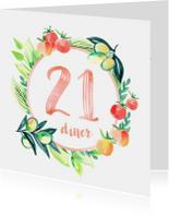 Uitnodigingen - Botanische 21-diner uitnodiging