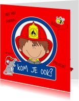 Kinderfeestjes - Brandweer uitnodiging feestje!