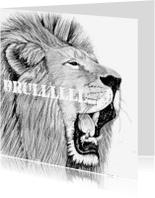 Dierenkaarten - Brullende leeuw